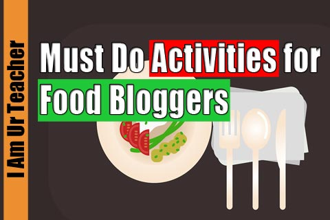 must do actvities for blogger