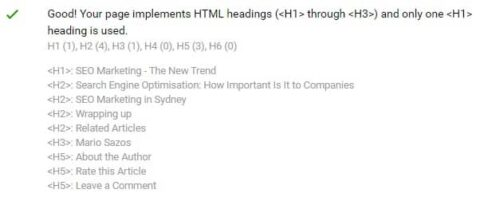 Headings for on page seo