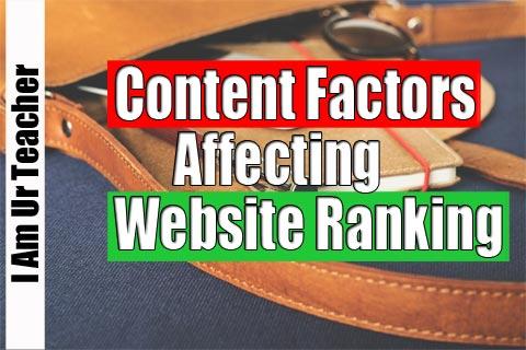 content factors affecting website ranking