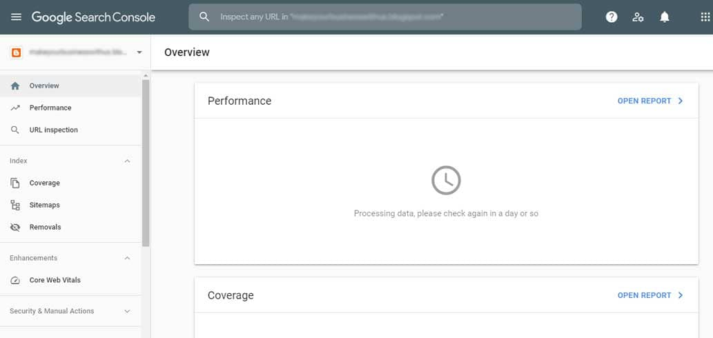 search console after approval