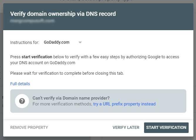 godaddy verification
