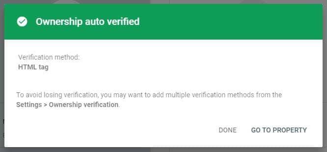 html tag verified