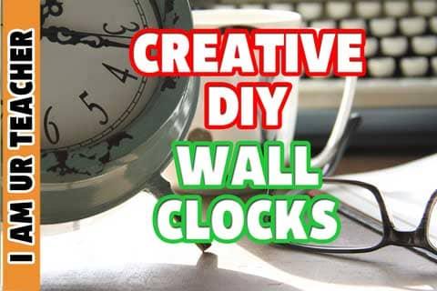 creative diy wall clocks