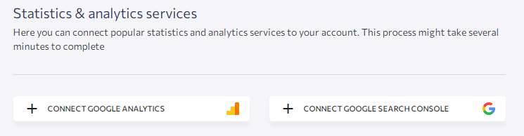 connecting google search console & google analytics in se ranking