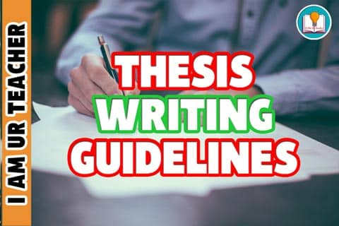 Dissertation Writing Thesis Writing Guidelines
