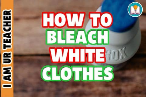 How to bleach white clothes
