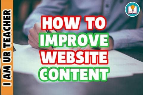 how to improve website content