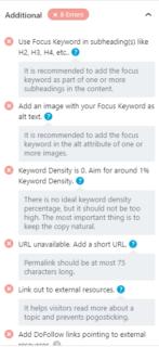Rank Math SEO Plugin additional tab