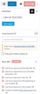 Rank Math SEO Plugin Interface