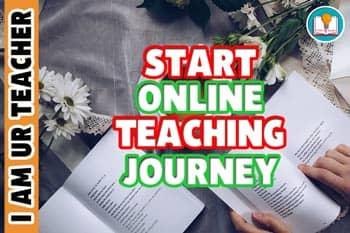 start online teaching journey